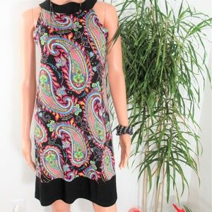 NEW! Tiana B. Sleeveless Popover Paisley Shift